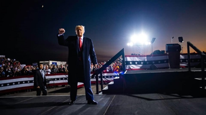 Donald Trump během kampaně