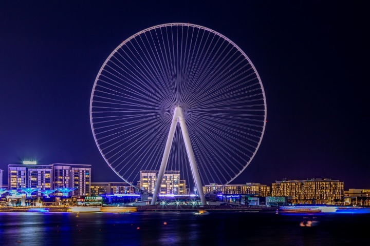 Dubai Eye na Bluewaters Island.