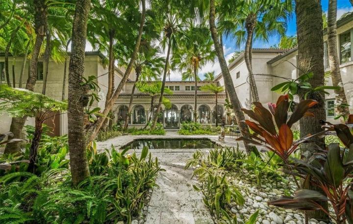 Dům Phila Collinse nacházející se v Miami Beach