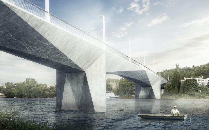 Vizualizace Dvoreckého mostu.