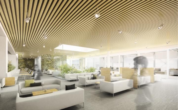 Vizualizace rekonstruovaného salonku ERSTE PREMIER LOUNGE