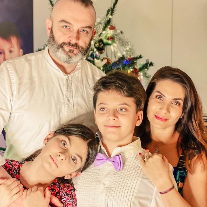 Eva Decastelo s manželem Reném a jejich dětmi.