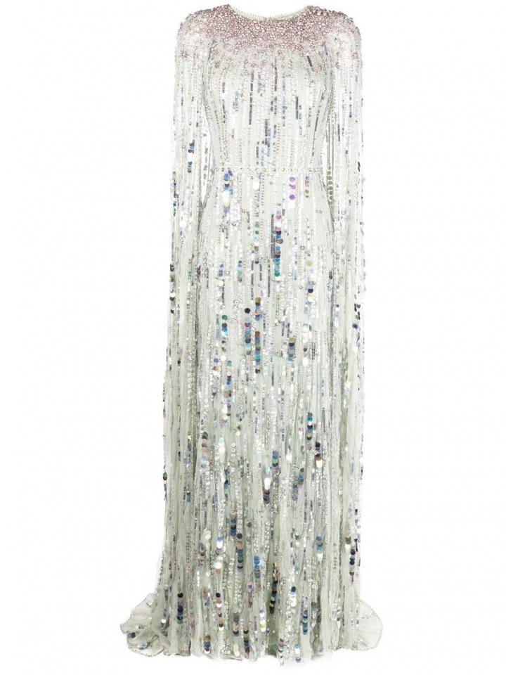 Bílo-modré šaty s flitry