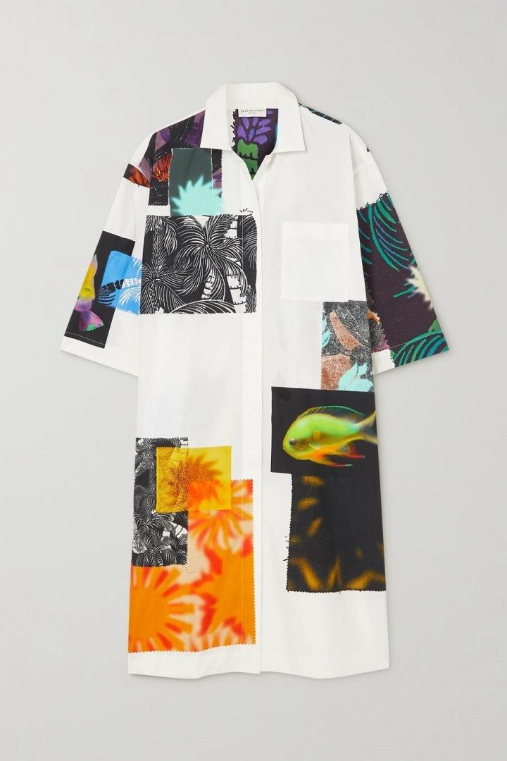 Košilové šaty se vzorem.