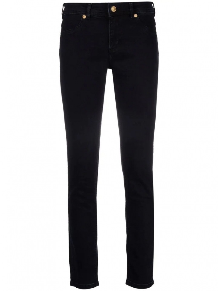 Černé kouřové džíny
