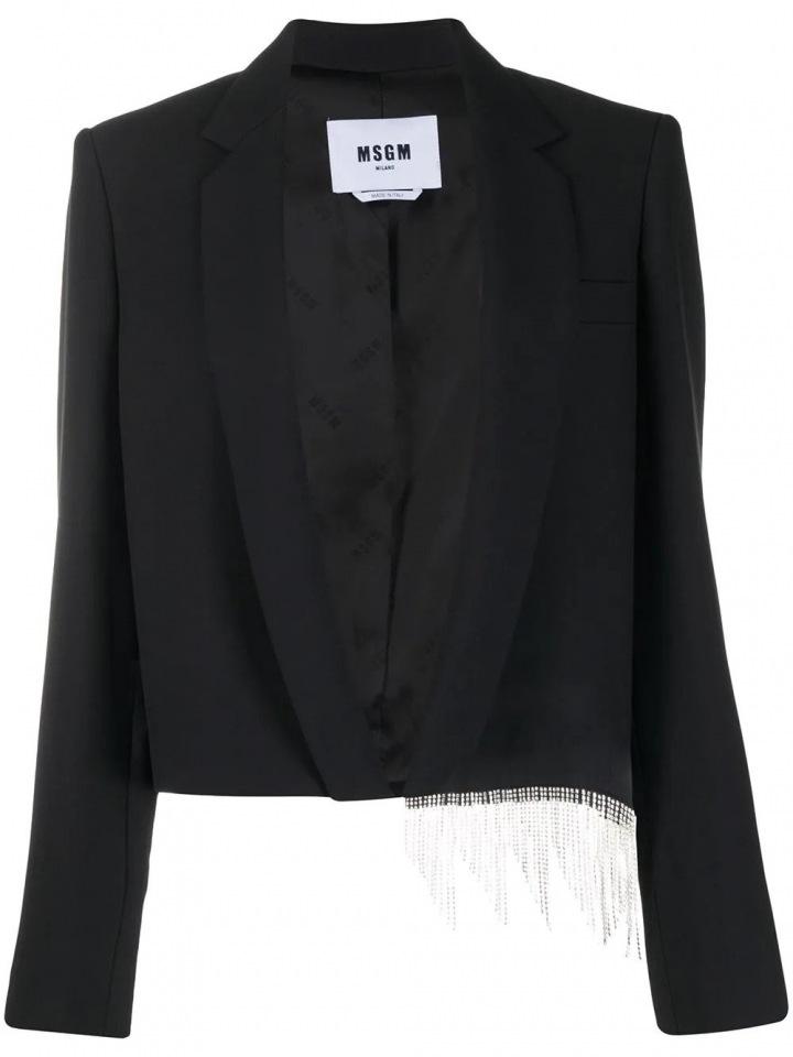 Černé krátké sako