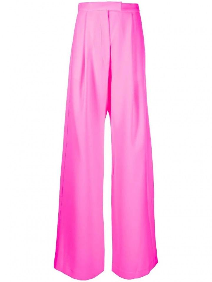 Růžové široké kalhoty