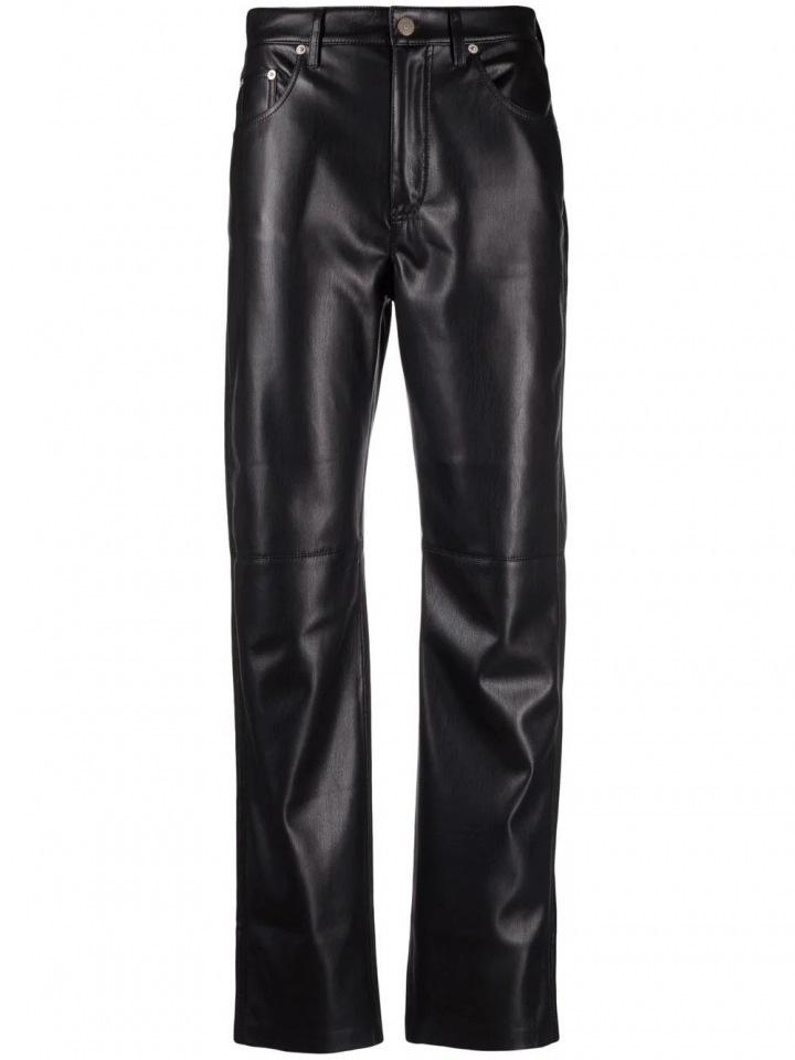 Černé kožené kalhoty