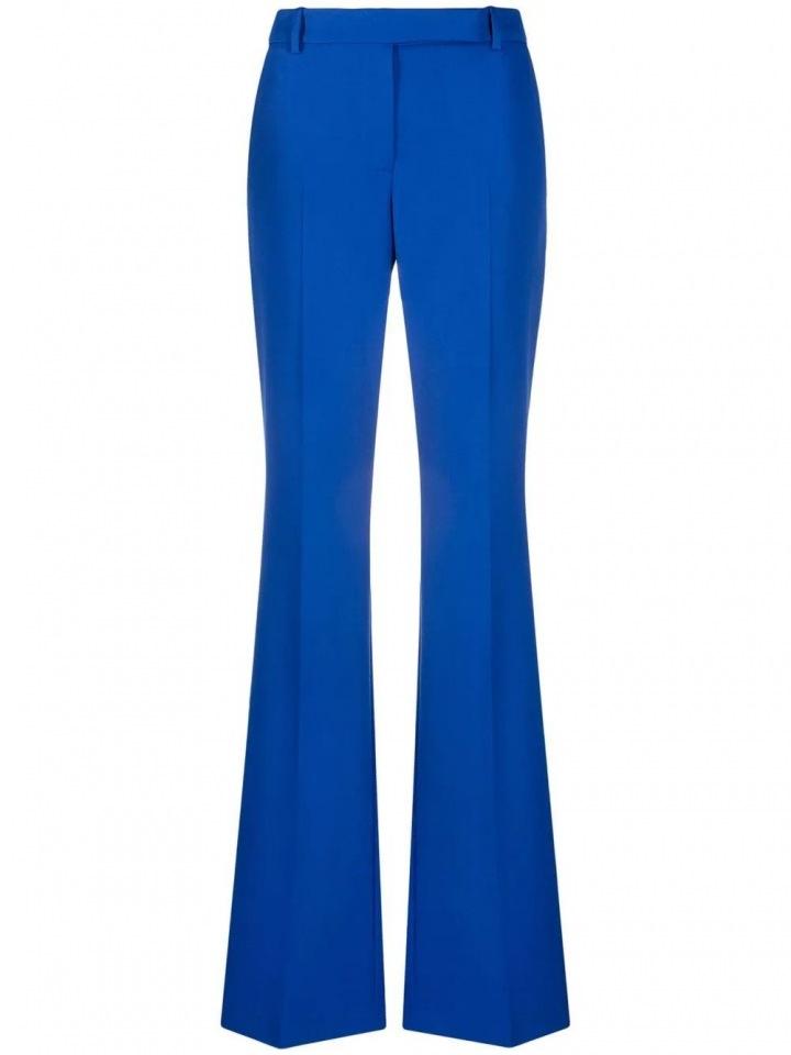 Modré kalhoty do zvonu