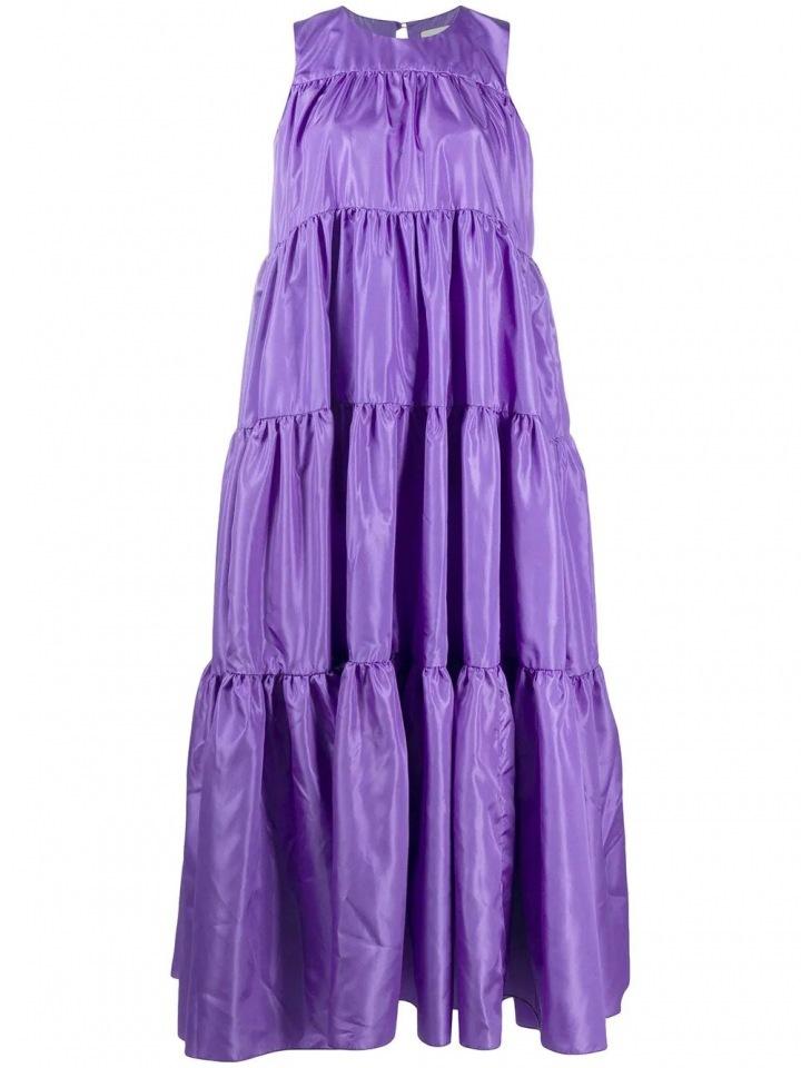 Fialové maxi šaty Loulou