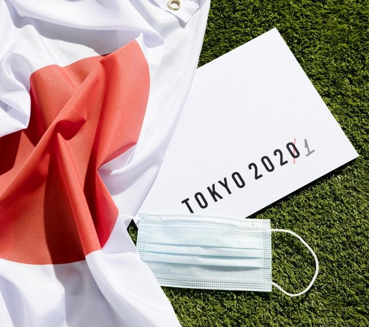 Japonská vlajka a rouška