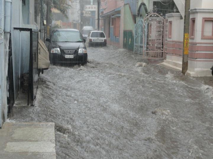 Záplavy v ulicích