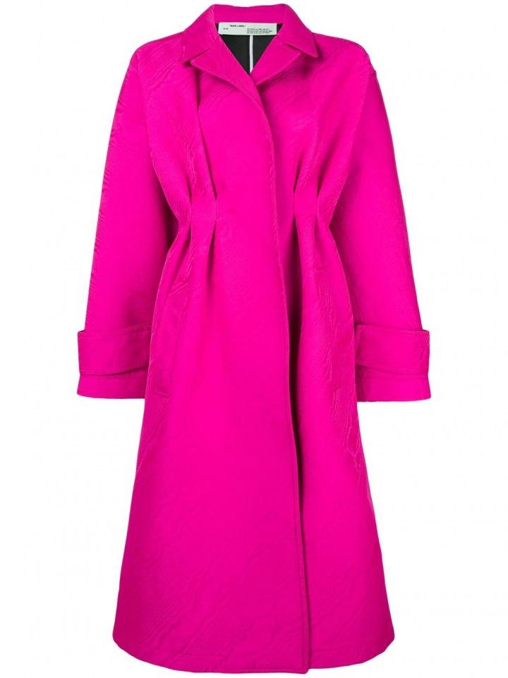 Fuchsiový kabát Off-White