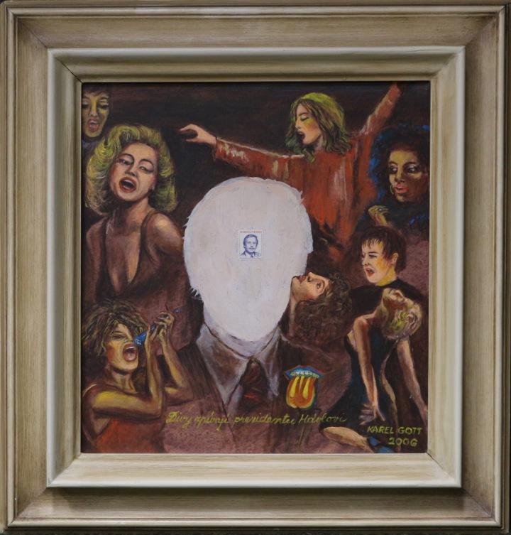 Gottův obraz Divy zpívají prezidentu Havlovi.