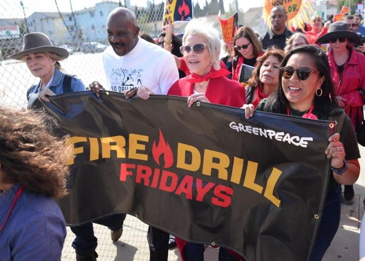 Jane Fonda na pochodu Greenpeace