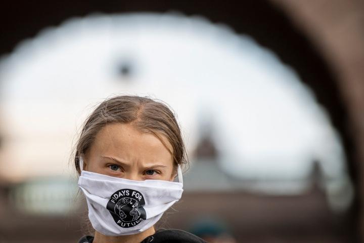 Osmnáctiletá aktivistka Greta Thunberg