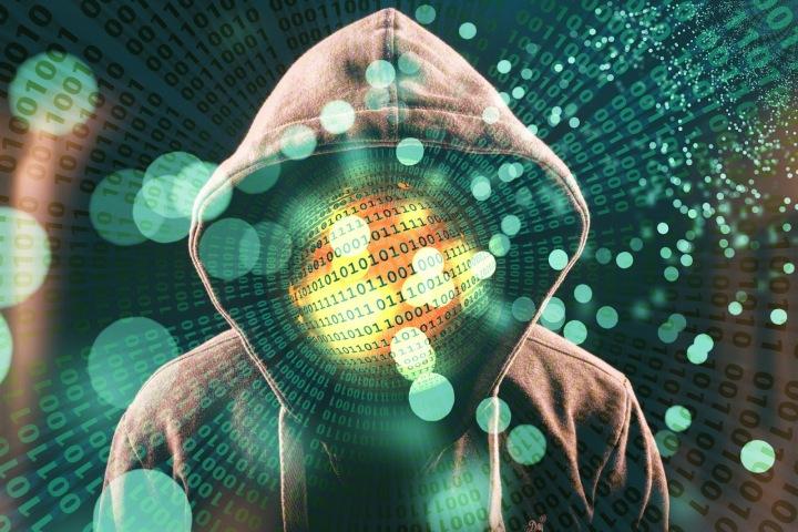 Znázornění anonymního počítačového hackera