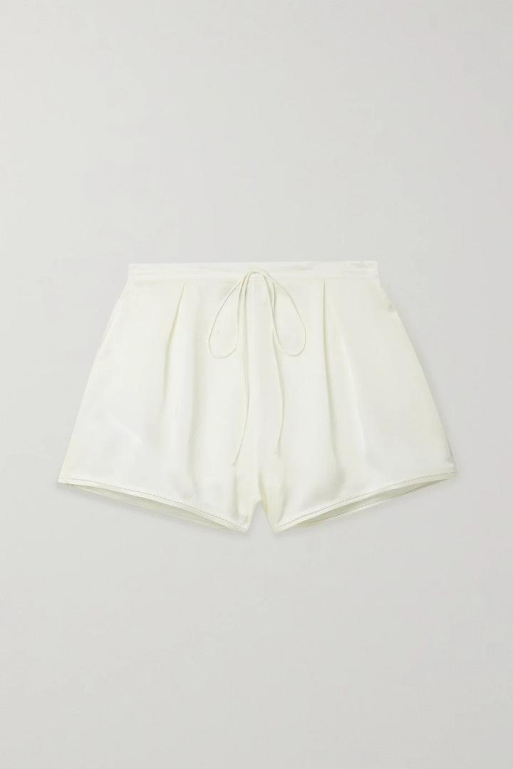 Hedvábné šortky Saint Laurent