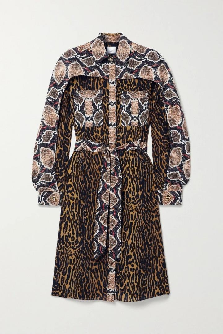 Hnědé šaty Burberry