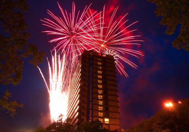 Hotel Thermal v Karlových Varech během filmového festivalu
