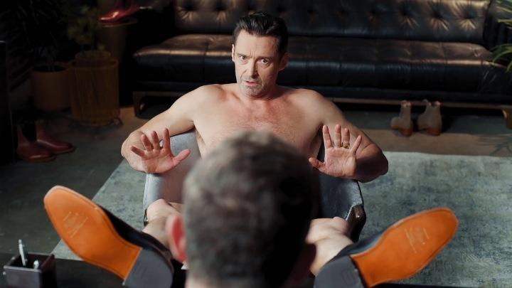 Hugh Jackman v reklamě na boty