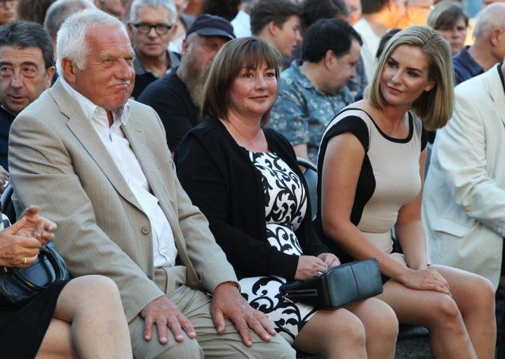 Václav Klaus, Ivana Zemanová a dcera Kateřina
