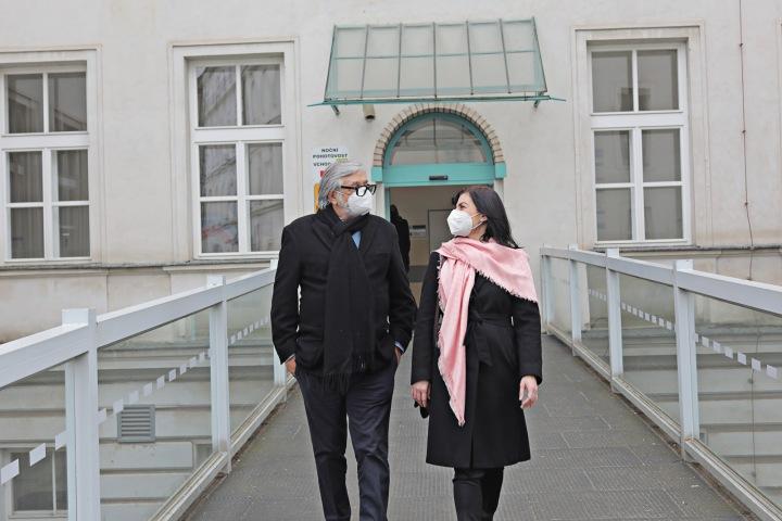Jiří Bartoška a Elena Jakubovič