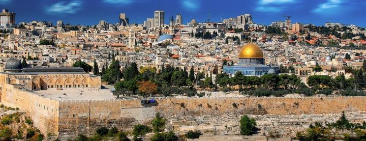 Pohled na centrum Jerusaléma.