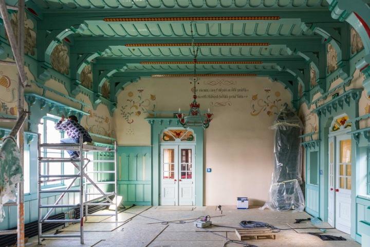 Rekonstrukce probíhala podle tradičních technologií.