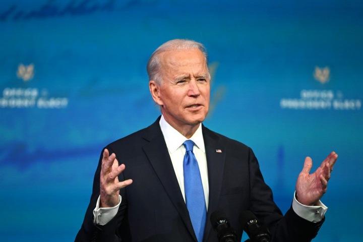 Joe Biden při jednom ze svých projevů