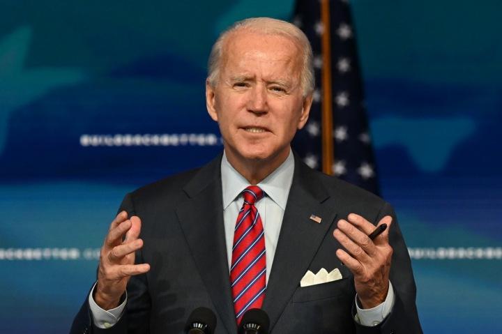 Prezident Biden při svém projevu