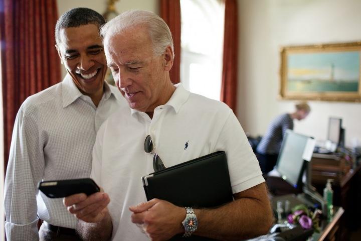 Joe Biden s Barackem Obamou.