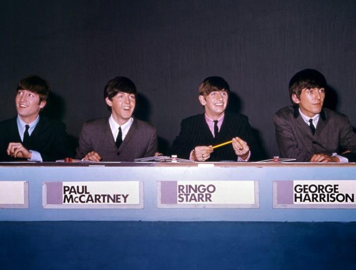 Kapela Beatles na tiskové konferenci