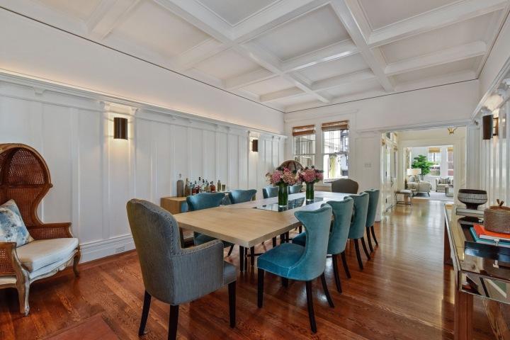 Julia Roberts a její jídelní část ve vile