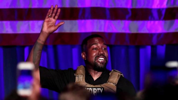 Kanye West při prezidentské kampani.