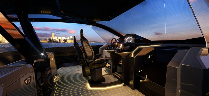 """""""Kapitánský můstek"""" vypadá jako vnitřek auta Lamborghini"""
