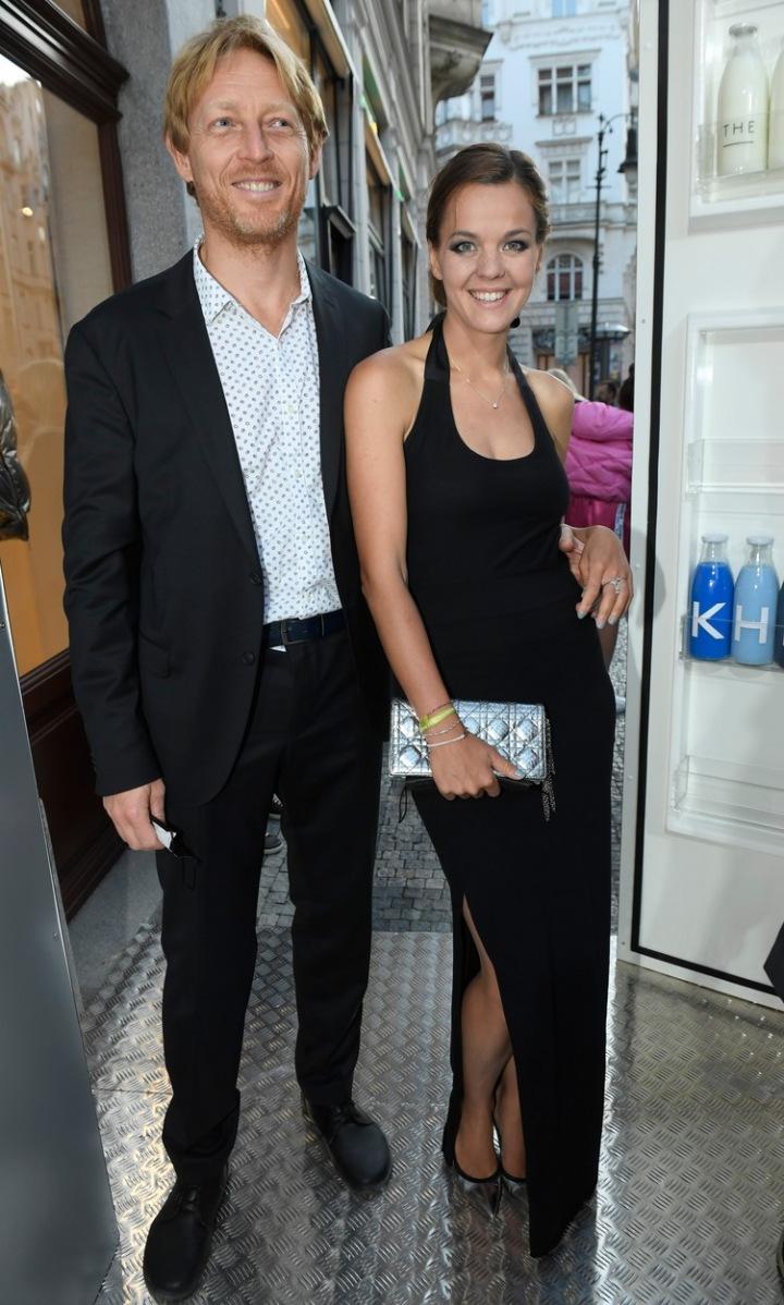 Karel Janeček s partnerkou Lilií Khousnoutdinovou