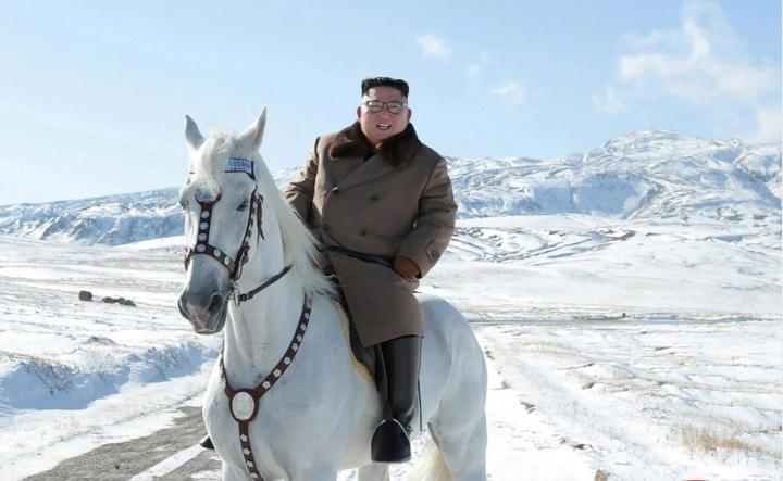 Severokorejský vůdce Kim Čong-un na koni