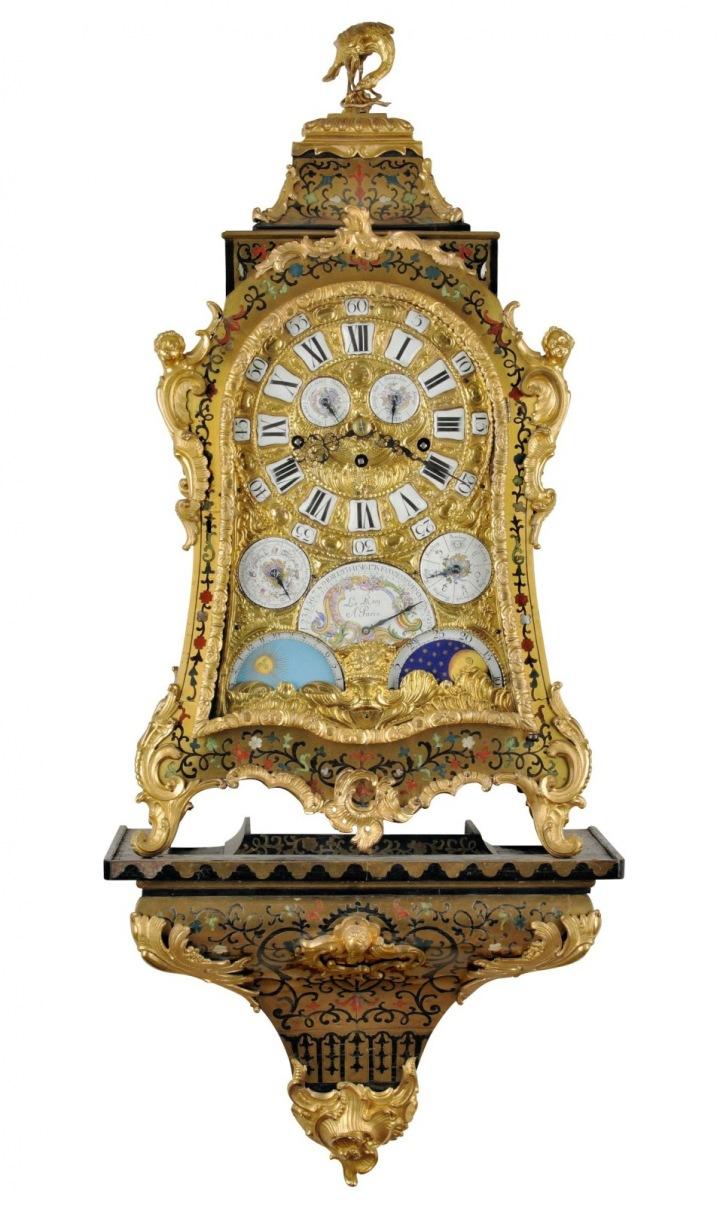 Unikátní barokní astronomické konzolové hodiny Le Roy A Paris