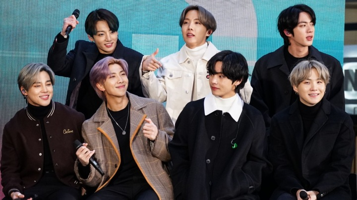 Korejská popová skupina BTS v americké NBC