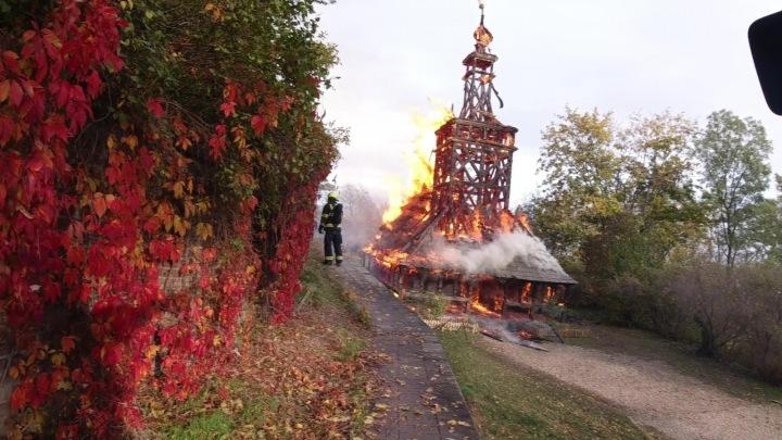 Kostel svatého Michala zasáhl požár