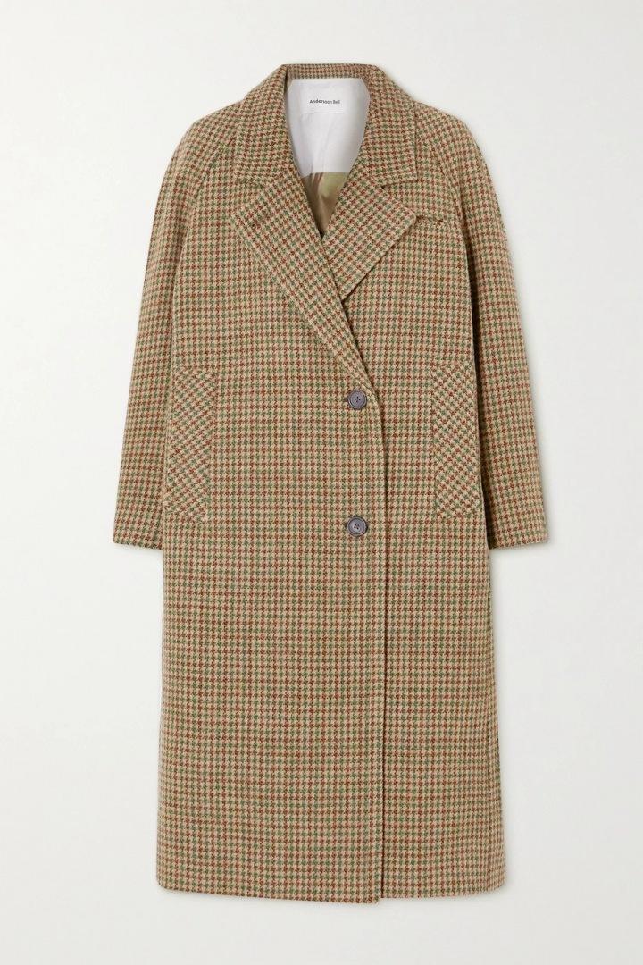 Kostkovaný kabát Anndersson Bell