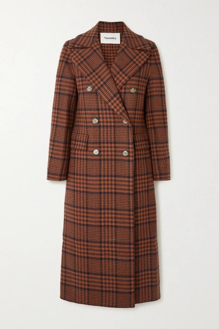 Kostkovaný kabát NANUSHKA