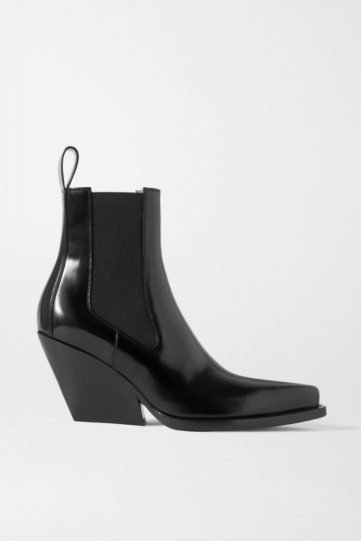 Kotníkové boty z hladké kůže Bonetta Venega.