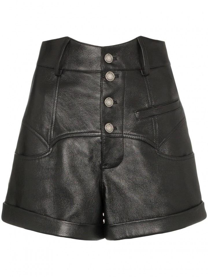 Kožené šortky Saint Laurent
