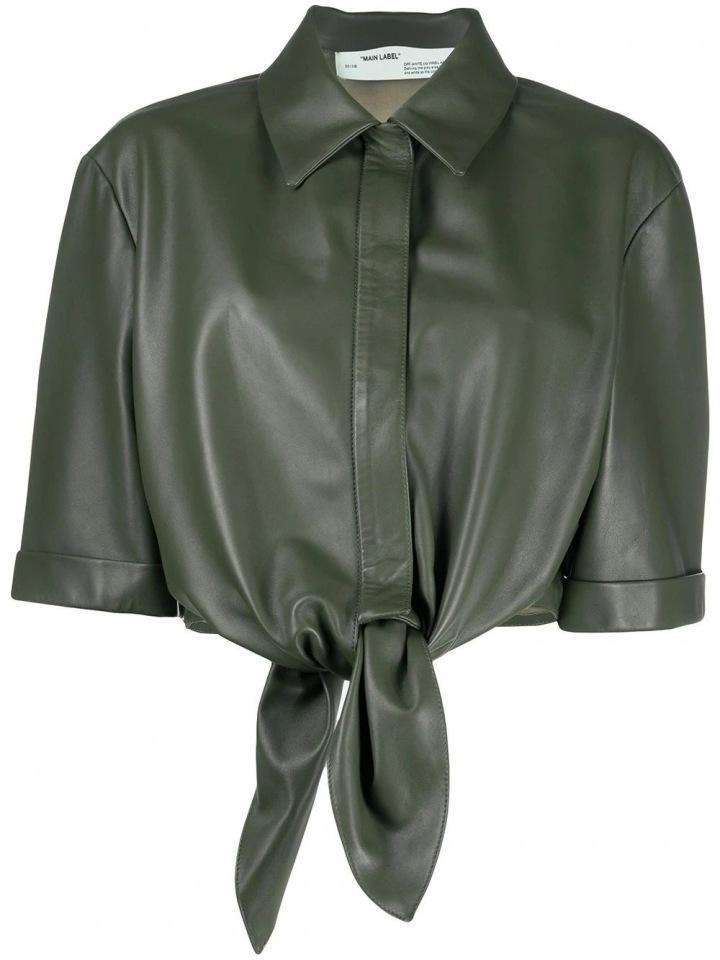 Kožený khaki top Off-White