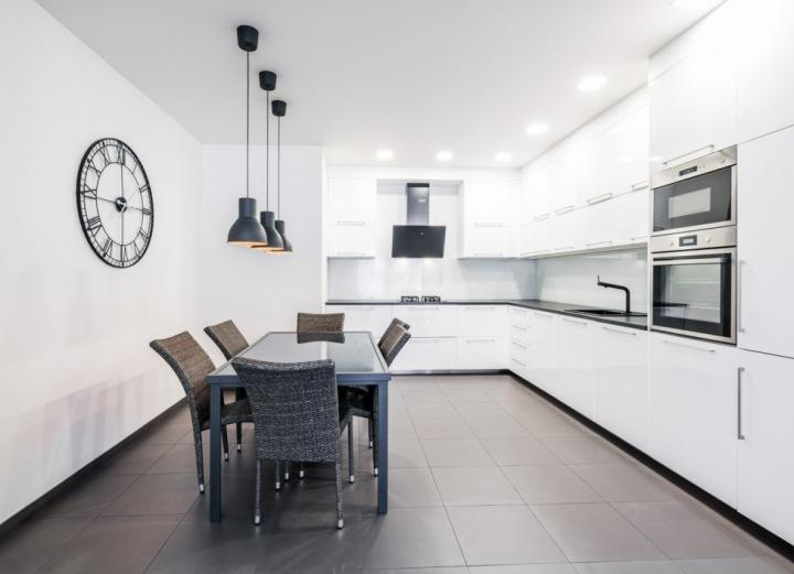 Kuchyně ve vile v Šáreckém údolí