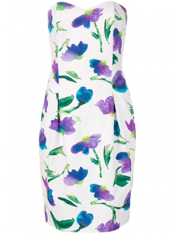 Květinové mini šaty Dior