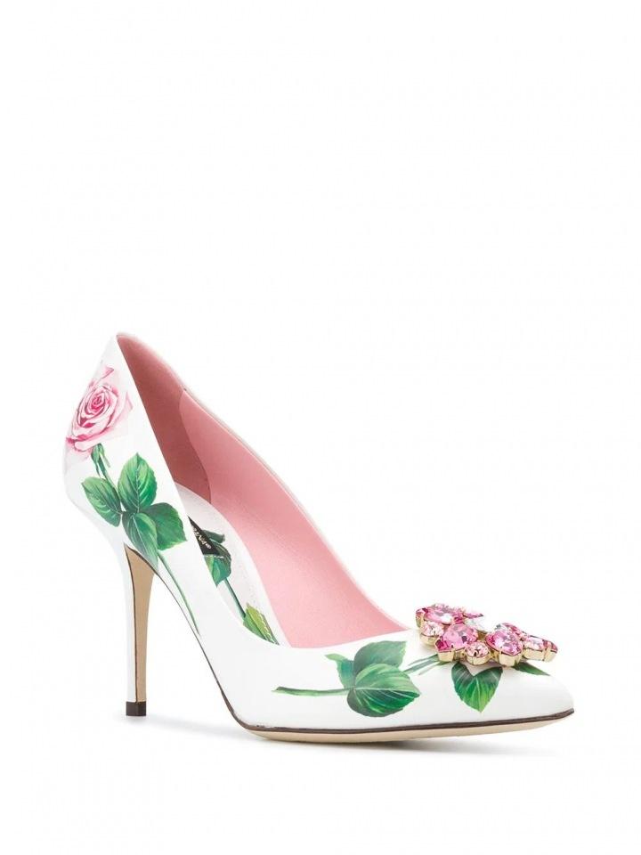 Lodičky s květinami Dolce & Gabbana