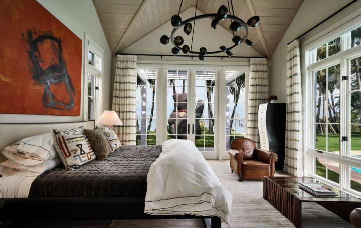 Ložnice v domě Sylvestera Stallona